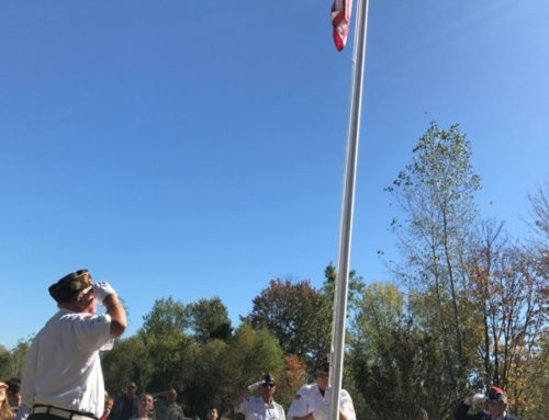 Saint Ambrose School Honors our Nation's Flag in a Dedication Ceremony and Prayer Service