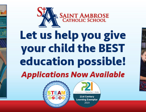 Welcome to Saint Ambrose School!  A Preschool- Grade 8 Learning Exemplar School!